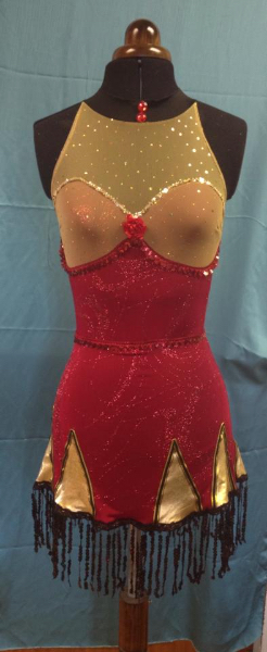 1920s-dress-goldred